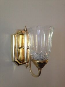 2 brass wall sconces light fixtures