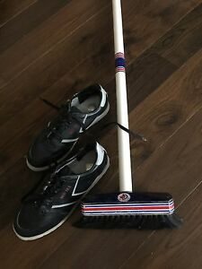 Men's Curling shoes & broom