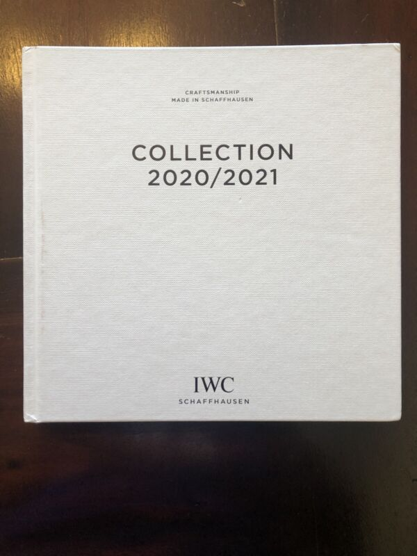 IWC SCHAFFHAUSEN Hardcover Watch Catalog Book 2020 2021 - 184 Pages