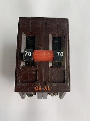 Wadsworth 70 Amp Double Pole 2 Pole 2p 70a Circuit Breaker Metal Feet Tested
