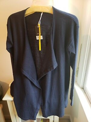 Cashmere Waterfall - PREMIUM COLLECTION BY ESMARA CASHMERE BLEND WATERFALL CARDIGAN BLACK M NWT