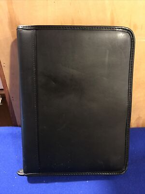 Franklin Covey Classic Genuine Leather Planner Binder 1 Rings Full Zip Closure