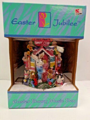 Vintage Kmart Easter Jubilee Bunny Club House Music Box In original box