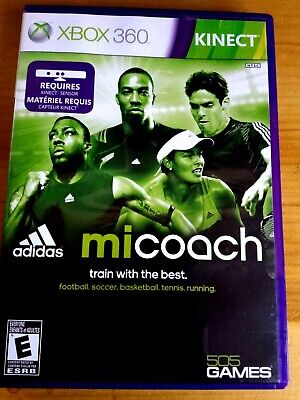 Mi Coach by adidas Xbox 360 Video Game Train With The Best football soccer CIB