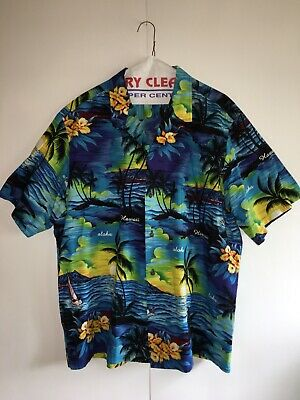 3b2ac506a VTG Royal Creations Made in Hawaii Hawaiian Aloha Shirt Men's Size 2XL