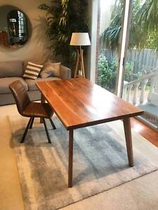 New 1.6m Solid Acacia Hardwood Dining Table