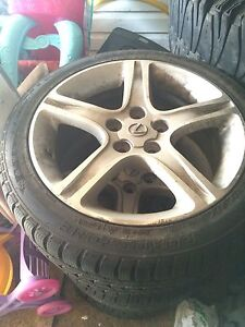 **Lexus rims and tires brand new**