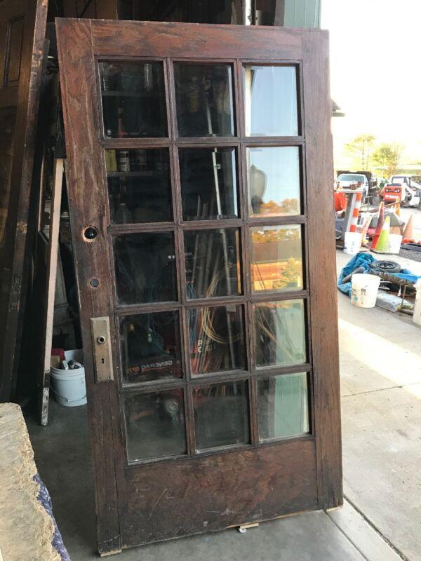 AN 570 Antique Beveled glass Oak entrance door 42 x 80.25