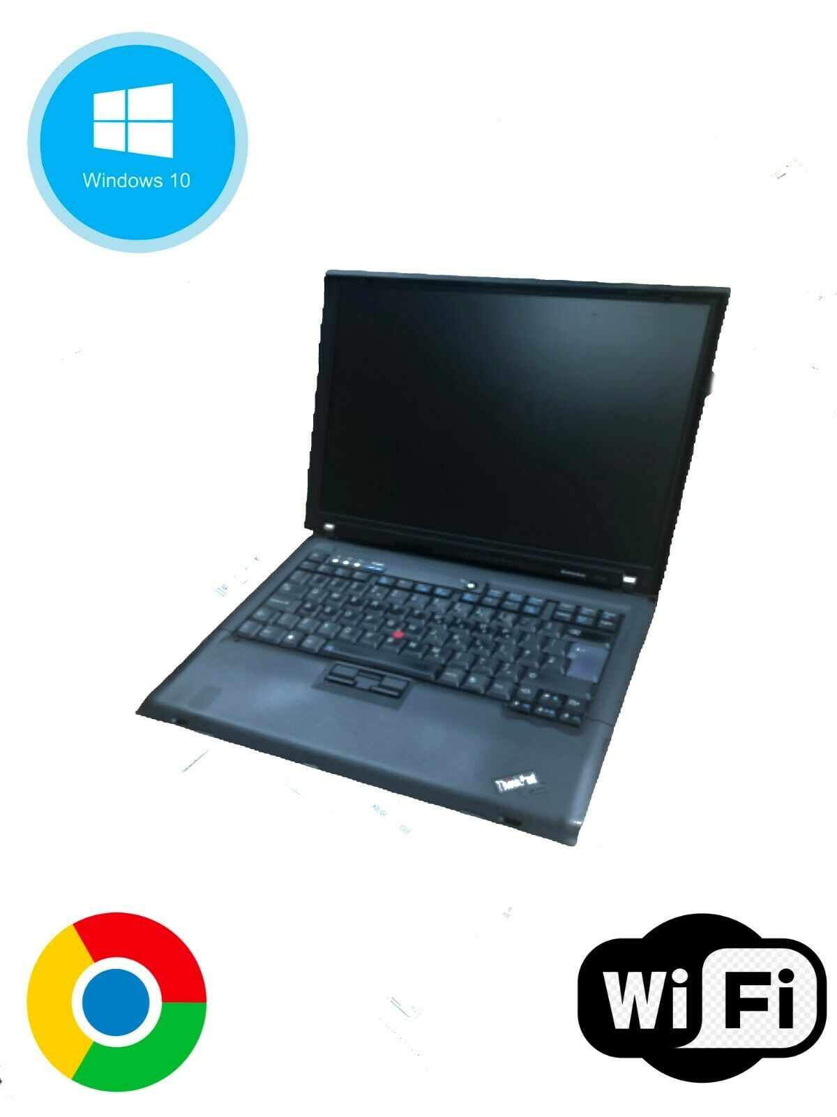 Laptop Windows - Lenovo ThinkPad R60e Laptop, 160GB HDD, 1GB RAM, Intel, Windows 10 Pro
