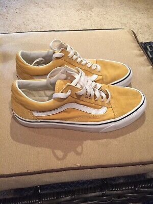 Vans Old Skool Yellow Suede Skating Shoes Mens 7.5 Womens 9
