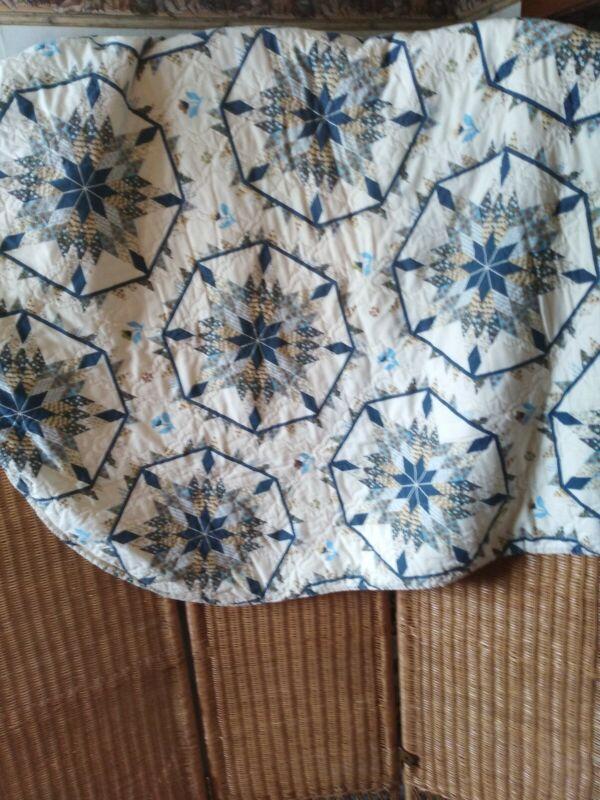 """Charming Machine  Sewn Vintage Quilt Top  Patchwork Pieces 52""""x45"""""""