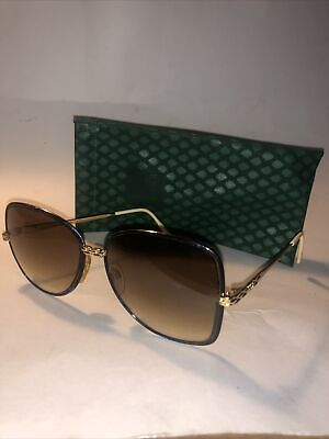Vintage Rare Gucci GG/2219/S Women's Gold Tinted Sunglasses Made In Italy