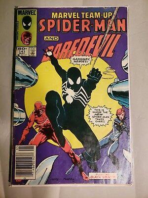 Marvel Team-Up # 141 (1984 Marvel) 1st Symbiote Black Costume Venom - Marvel Carnage Costume