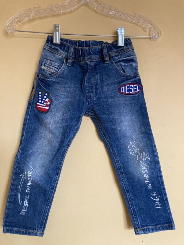DIESEL Denim Fashion Jeans Toddler Baby Boy, Size 36months