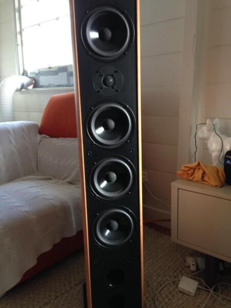 FS: American Acoustic Development 5 1 Speakers with Onkyo A