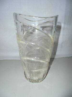 Vintage Vase Tischvase Blumenvase Glas