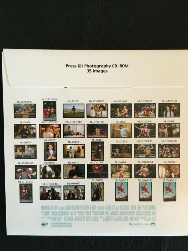 2006 NACHO LIBRE Jack Black Paramount Movie Press Kit w/Photos on CD-ROM