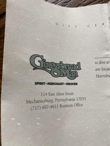 Gingerbread Man 10 Gift Certificate - $3.75