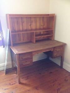 Oak Desk & Shelving Balmain Leichhardt Area Preview