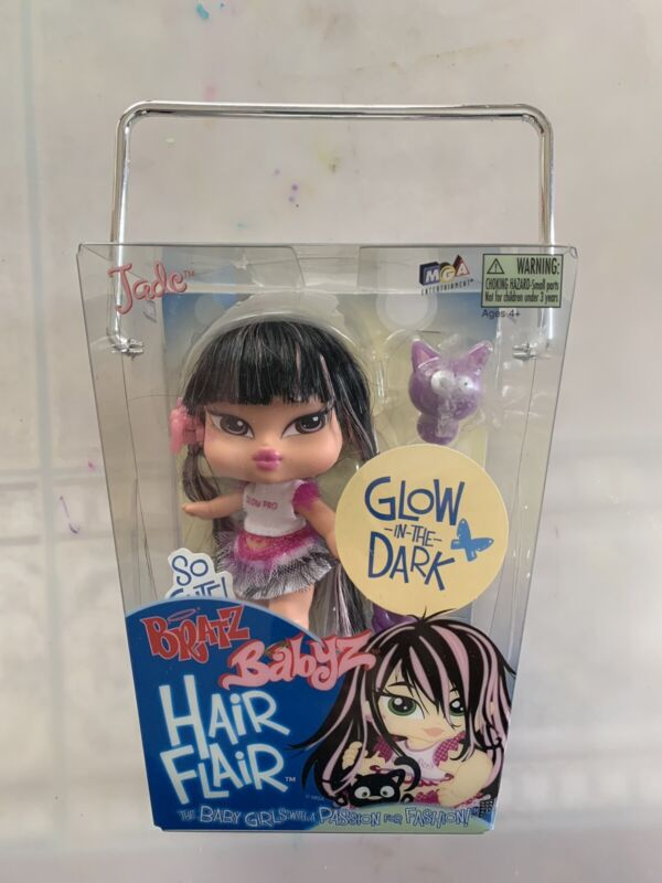 Bratz Babyz Hair Flair Jade 5 inches Tall New & Sealed Rare Collectible-NIB