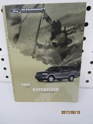 2003 Ford Expedition Owners Manual (book only)    FREE SHIPPING