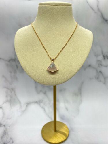 Auth BULGARI Divas Dream 18k Rose Gold Mother of Pearl Necklace - USED / S2061