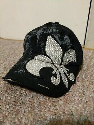New Orleans Saints Sun Products  woMens Cap Adjustable rhinestones  Vintage dat New Orleans Womens Cap
