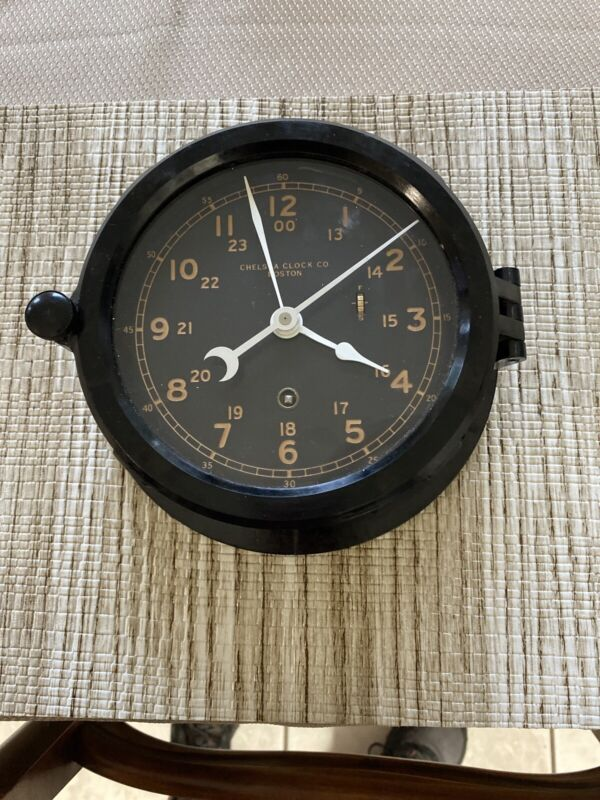 Vintage Chelsea Ship Navy Clock