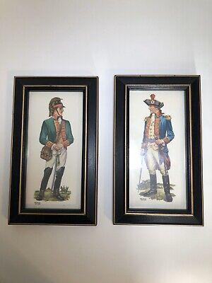 RevolutionaryWar Soldiers Dragoon Framed Art Prints By Frederick Elmiger VTG
