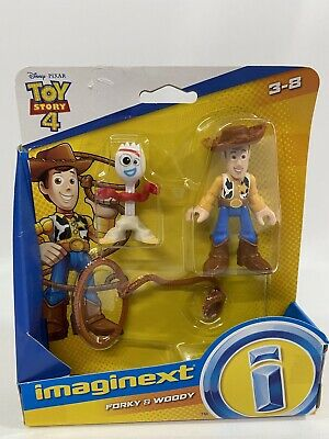 New Disney Pixar Imaginext Toy Story 4 Forky and Woody Figures
