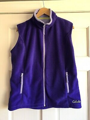 AD2 Cabelas Full Zip Purple Fleece Vest Womens Medium
