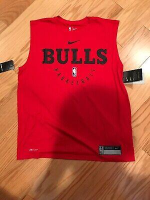 Nike NBA Chicago Bulls Sleeveless Player Shoot Vest Top Size XXL BNwT AR2620-657