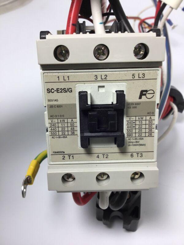 Lot Of 12 FUJI ELECTRIC CONTACTOR SC-E2S/G 24V COIL SE51AG 65A A AMP 600Vac