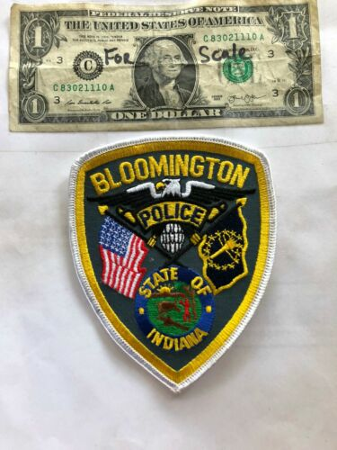 Bloomington Indiana Police Patch Un-sewn great shape