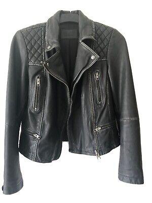 All Saints Cargo Leather Jacket Size 10/12