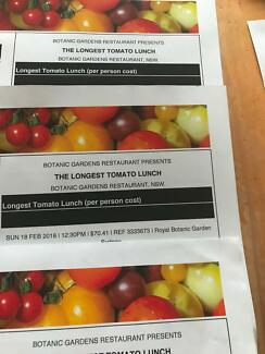 Longest Tomato Lunch tickets
