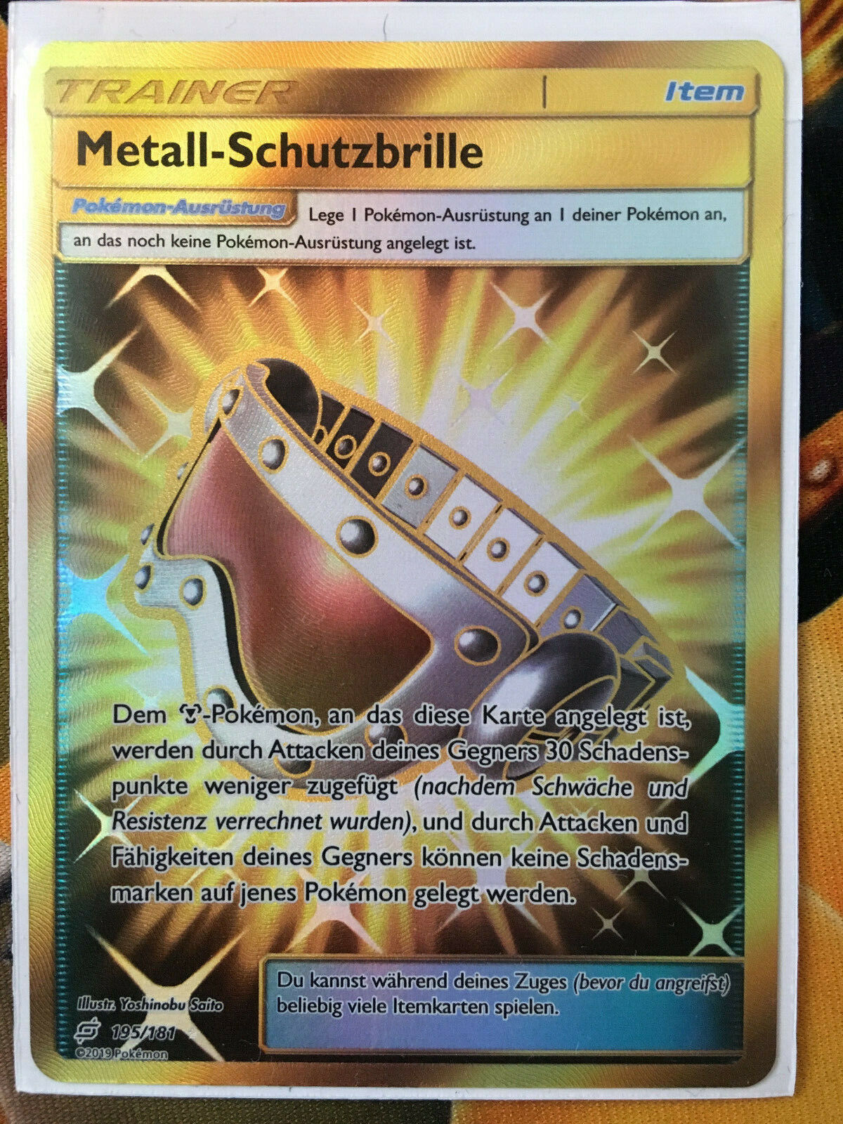 Pokemon TCG Metall-Schutzbrille FA Secret Rare 195/181 Teams sind Trumpf Mint