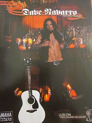 Jane's Addiction, Dave Navarro, Yamaha Guitars, Full Page Vintage Promotional Ad