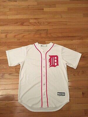 Detroit Tigers Authentic Cool Base (Detroit Tigers MLB Authentic Majestic Cool Base Pink Mother's Day Jersey Men's)