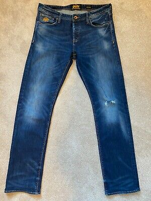 SUPERDRY Men's Officer Jeans 36W - 34L Copper Denim Classics L1