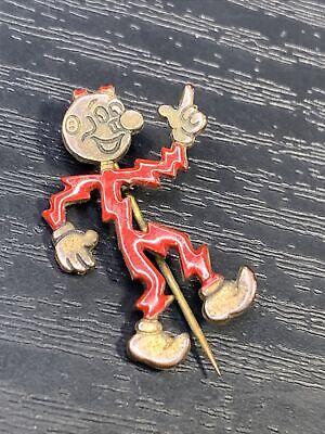 Vintage Reddy Kilowatt Electric Company Ad Character Enamel Pin Advertising