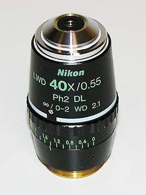 Nikon 40x Lwd Phase Infinity Microscope Objective