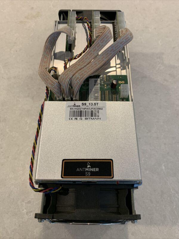 Bitmain Antminer S9 13.5TH/s ASIC Miner, No PSU
