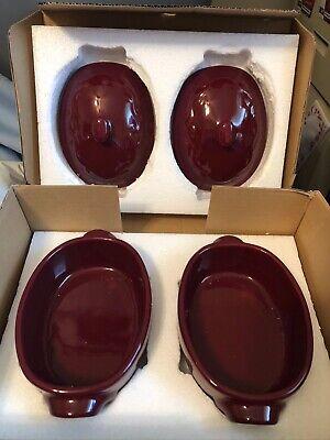 *NIB* Celebrating Home Berry Mini Casserole Dish -Set of 2- Oven&Dishwasher -