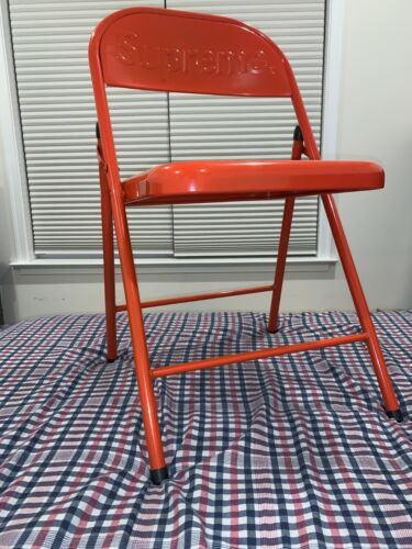 SUPREME Metal Folding Chair RED Brand New