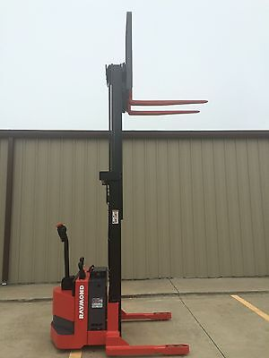 2010 Raymond Rss40 Walk Behind Forklift Straddle - Very Nice Double 128 3750lb