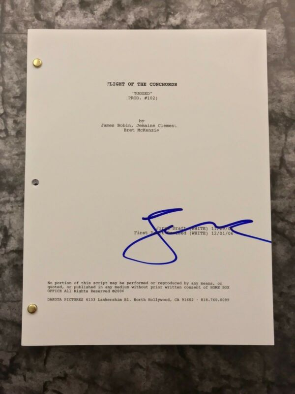 GFA Flight of the Conchords * JEMAINE CLEMENT * Signed TV Show Script PROOF COA