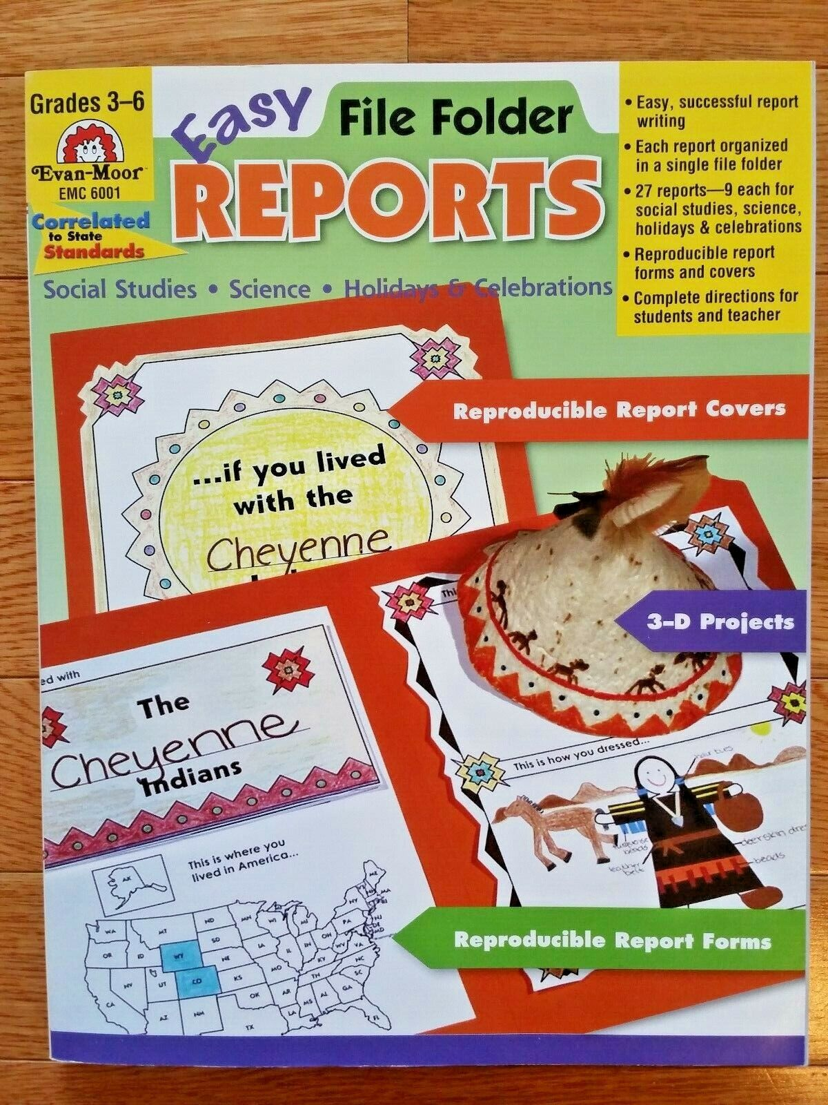 Easy File Folder Reports Grades 3-6 By Evan-Moor 2004, Paperback  - $5.00