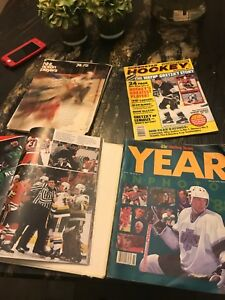I have a few vintage hockey Magazines and book