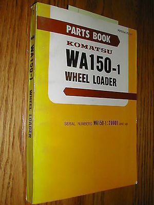 Komatsu Wa150-1 Parts Manual Book Catalog Wheel Loader Pepb04170101 Guide List